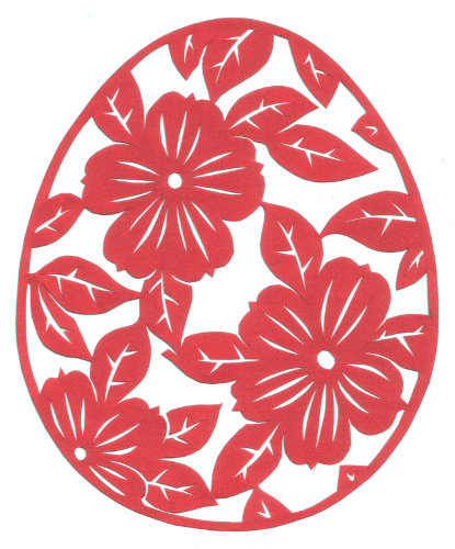 cut paper design Floral Egg
