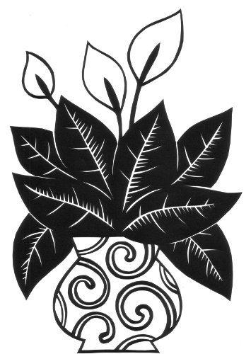 cut paper design Peace Plant