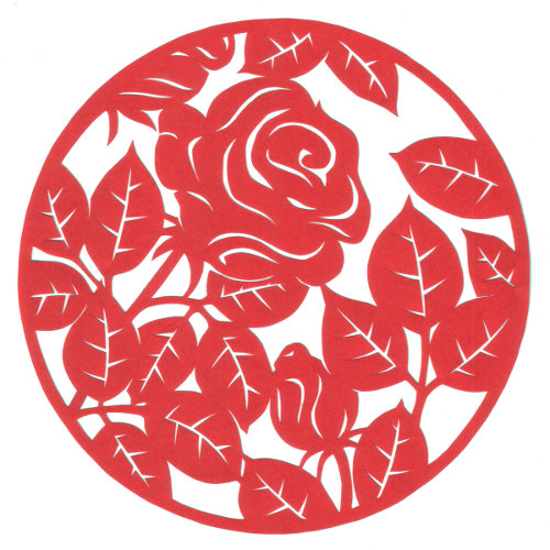 cut paper design Rose Circle