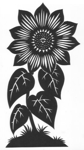 cut paper ornate design Big Sunflower