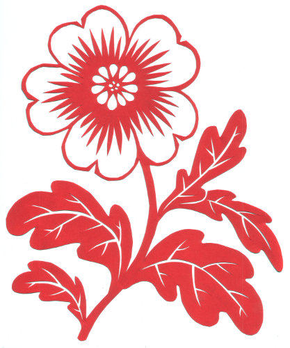 cut paper design Wild Flower