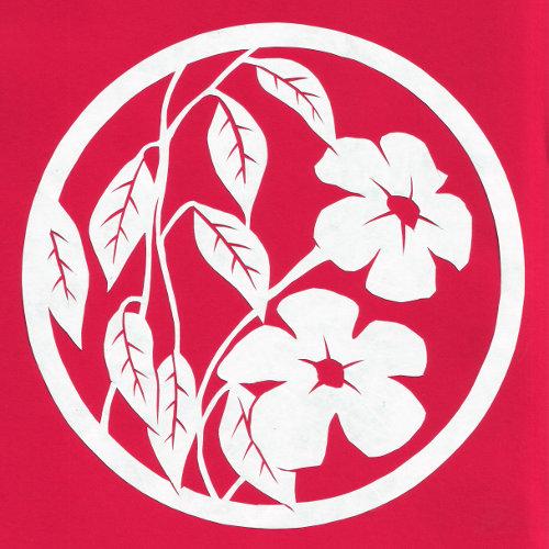 cut paper design Flowering Vine