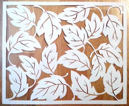 cut paper design Random Leaves
