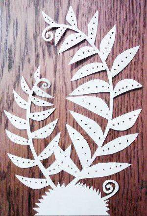 cut paper design Curly Ferns