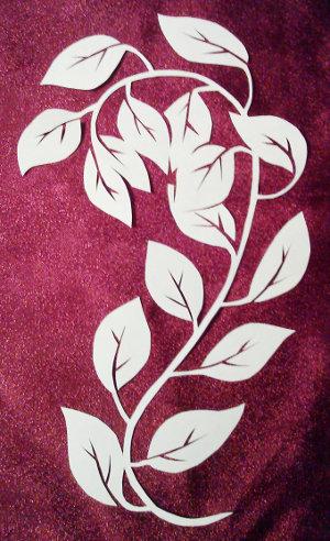 cut paper design Leafy Stem