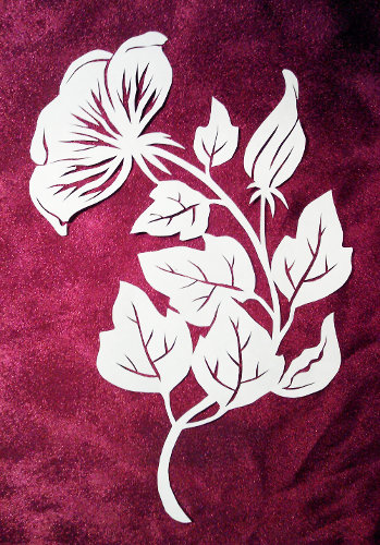 Nov 12 stencilletta papercutting blog cut paper design rose of sharon mightylinksfo