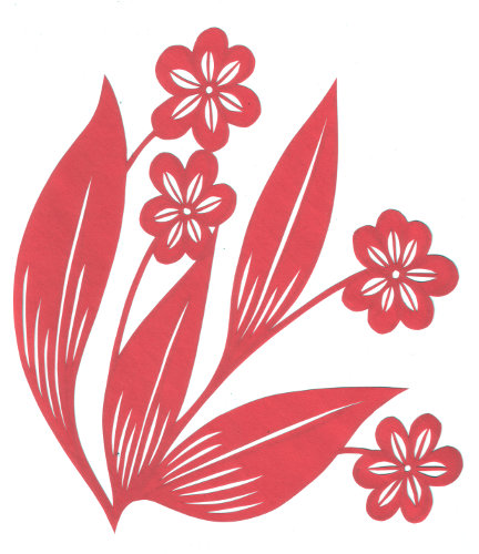 Paper Cutting Flower Design