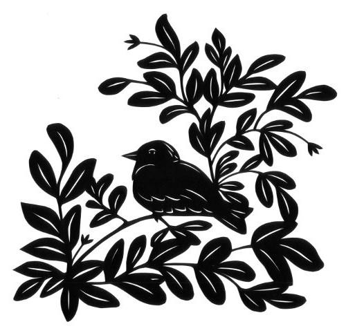 cut paper design Bird in Tree
