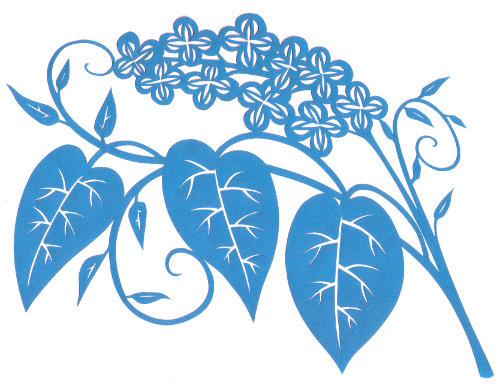 cut paper design Floral Sprig