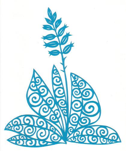 cut paper design Magic Hosta