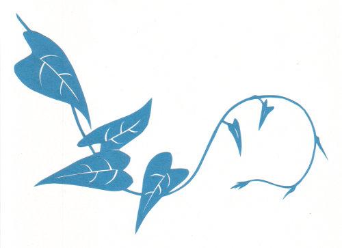 cut paper design Little Vine