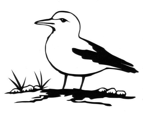 cut paper design Sea Gull