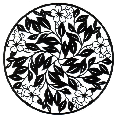 cut paper design Blossom Circle