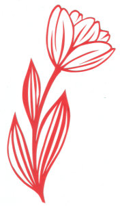 red tulip paper cutting