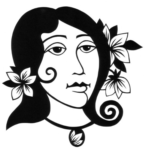 cut paper design Girl with Flowers in Her Hair