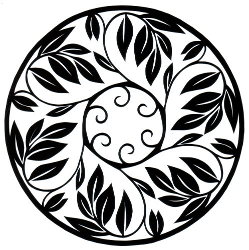 cut paper design Leafy Circle