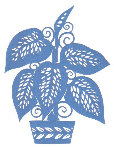 cut paper design Potted Plant