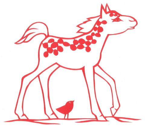 cut paper design Spotted Foal