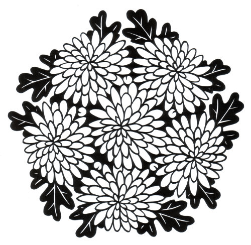 cut paper design Chrysanthemum Circle