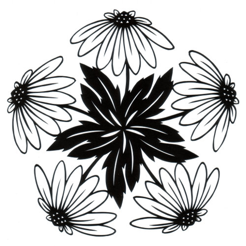 cut paper design Daisy Circle