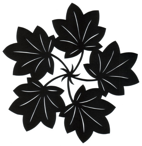 cut paper design Five Leaves