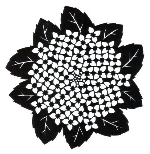 cut paper design Hydrangea