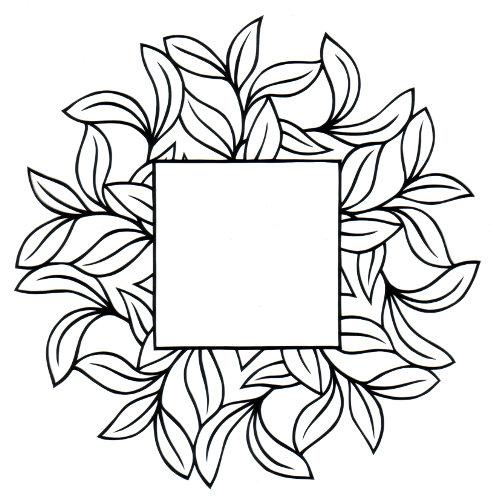 cut paper design Leafy Frame
