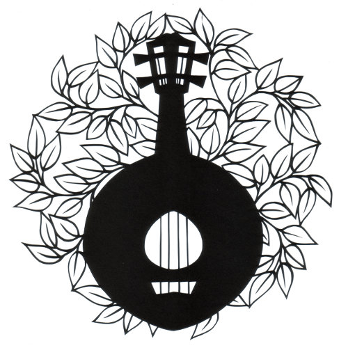 cut paper design Lute