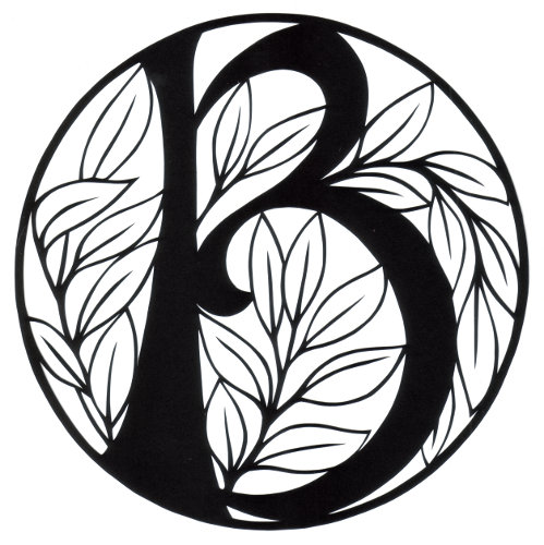 cut paper design Monogram B