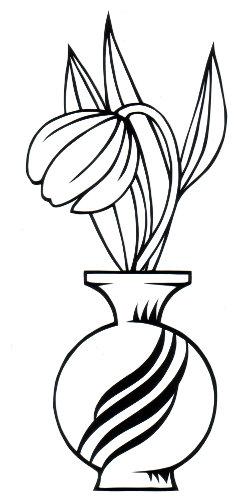 cut paper design Tulip Bud Vase