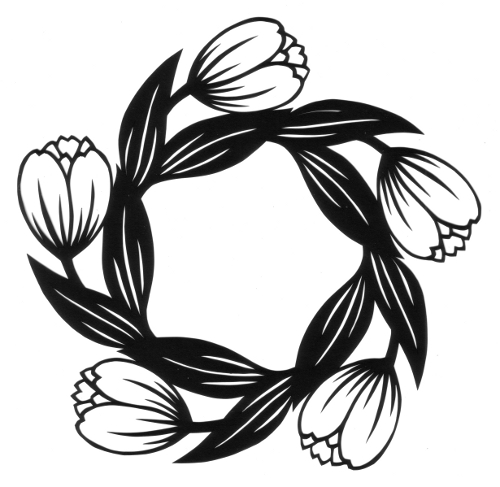 cut paper design Tulip Circle and Star
