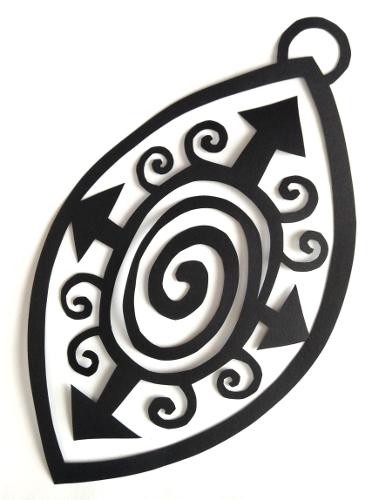 cut paper design Pendant Design