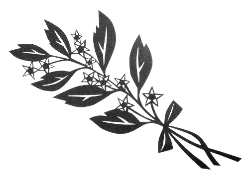 cut paper design Star Branch