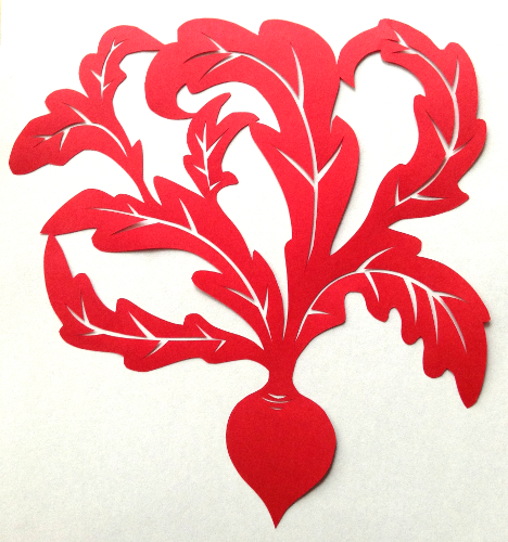 cut paper design Can It Be Beet?