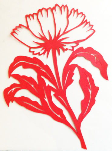 cut paper design Cornflower