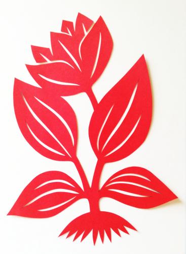 cut paper design Flower Motif
