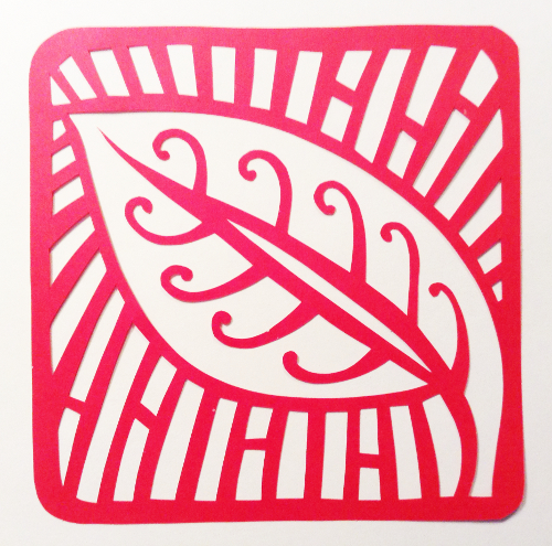 cut paper design Leaf Motif