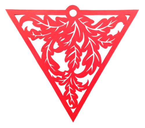 cut paper design Leafy Triangle