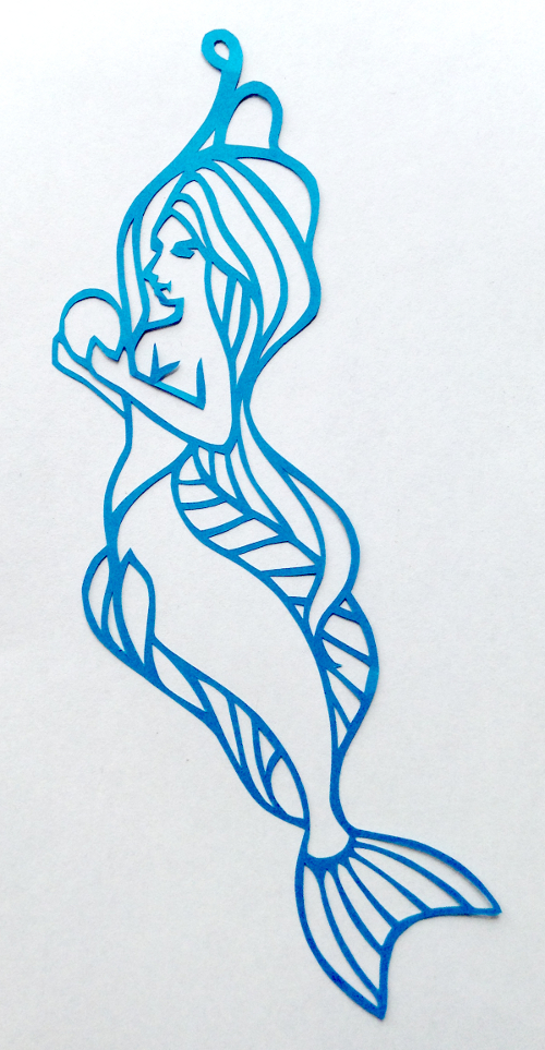 cut paper design Design for a Mermaid Earring