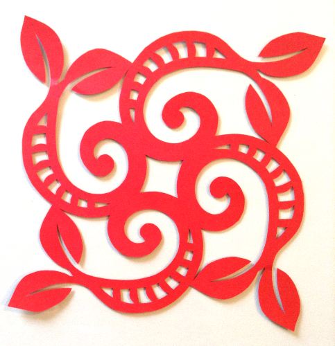 cut paper design Spiral Square