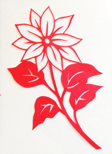 cut paper design Little Sunflower