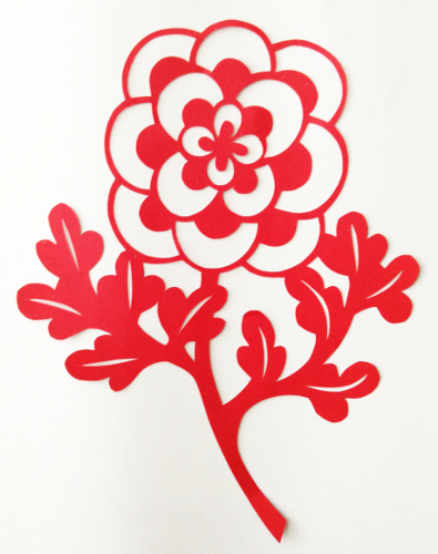 cut paper design Pop Art Flower