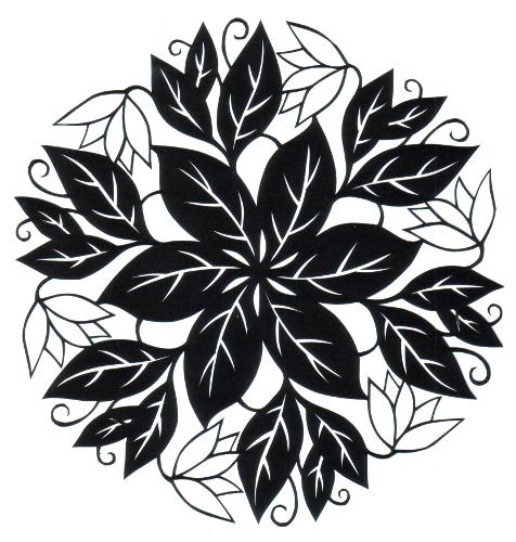 cut paper design Floral Round