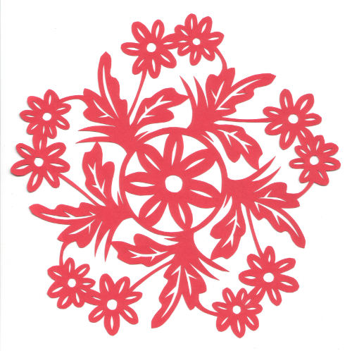 cut paper design Wild Flower Circle