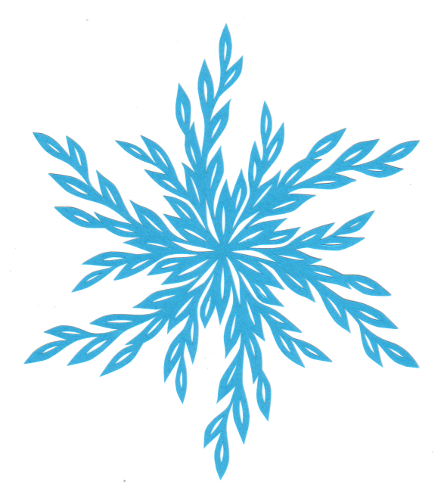 cut paper design Willow Snowflake