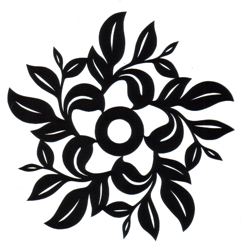 cut paper design Leaf Circle Flower
