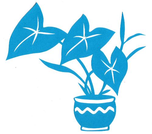 cut paper design Arrowhead Plant