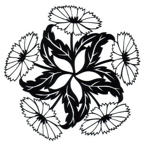 cut paper design Cornflower Circle
