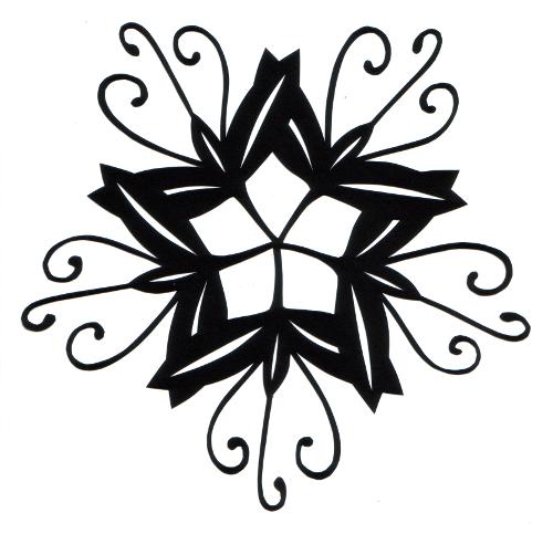 cut paper design Flower Star
