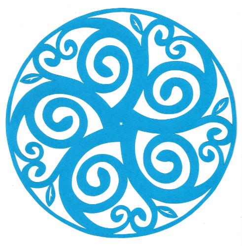cut paper design Growth Spiral